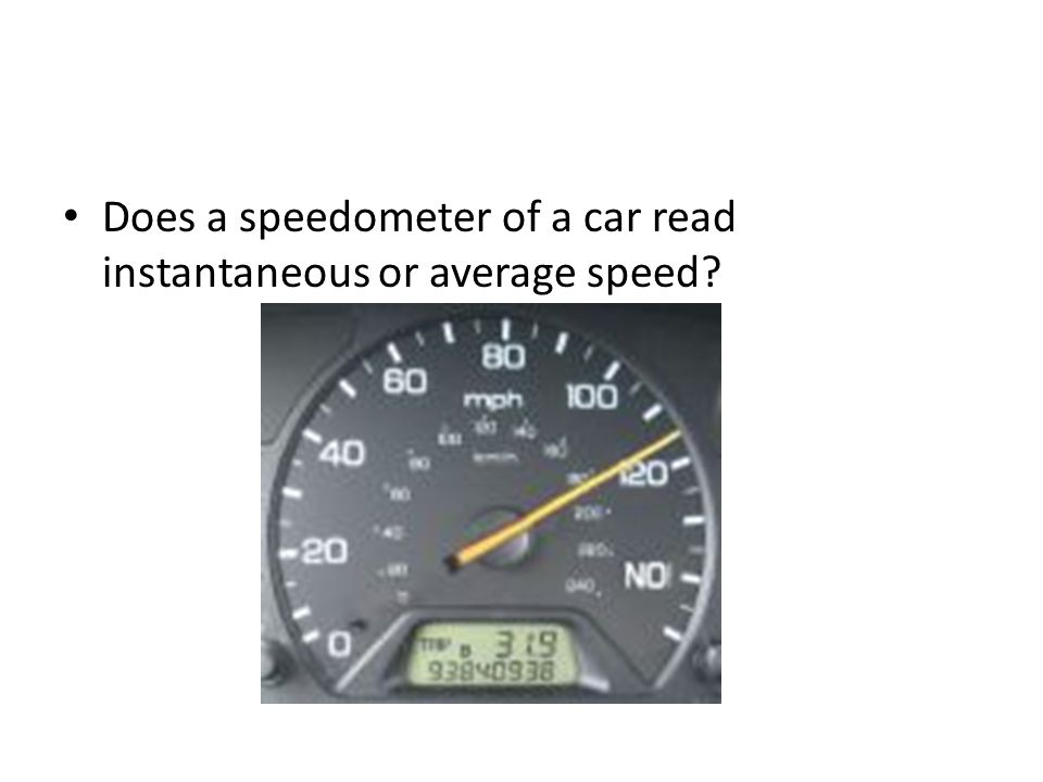 how to find instantaneous speed