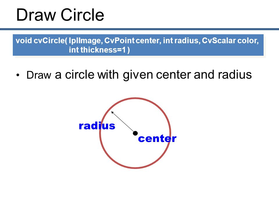 how to draw a circle with a radius of 5m