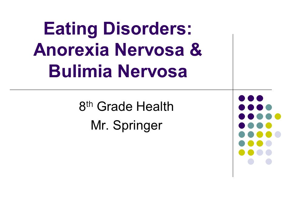 anorexia nervosa bulimia nervosa Anorexia nervosa and bulimia nervosa are the most common clinically recognized eating disorders those with anorexia have a tendency to skip meals, adopt highly restrictive and unhealthy diets, obsess over thinness and food, and present abnormal eating habits or rituals bulimia presents itself in the form of binging,.