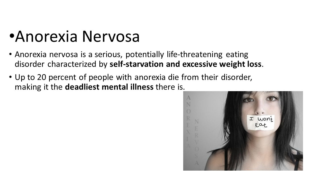 an in depth description of the life threatening eating disorder anorexia nervosa
