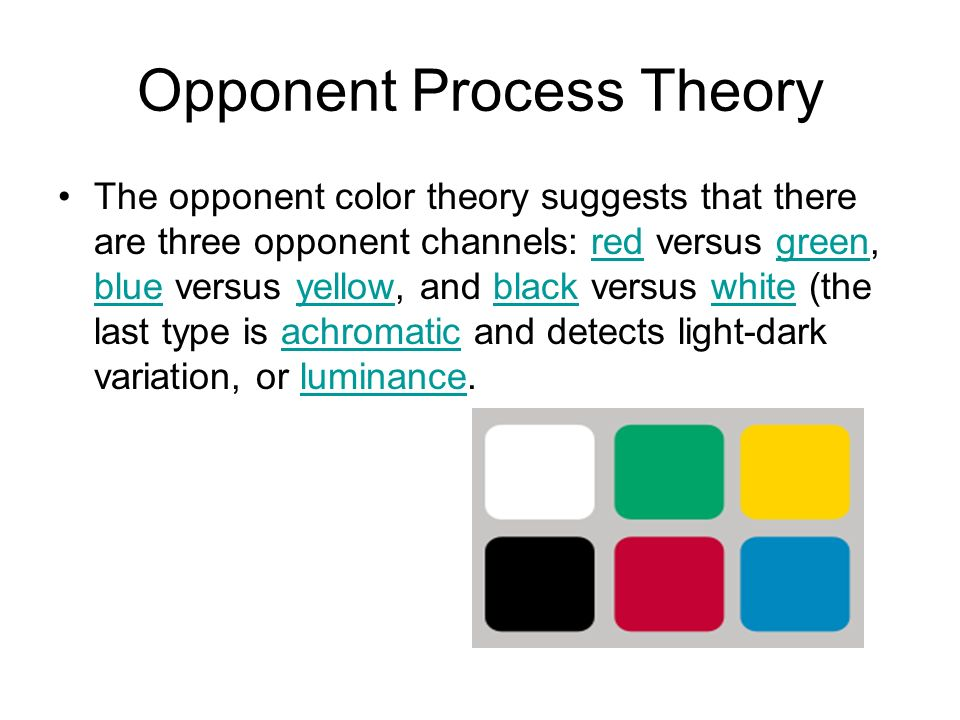 trichromatic theory and processing theory comparison The trichromatic theory explains: a the first level of color processing, which occurs in the retina b the second level of color processing, which occurs in the ganglion cells c the third level of color processing, which occurs in the thalamus d.