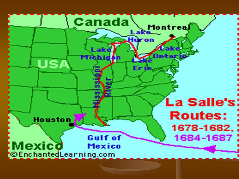 French Explorers Power Notes Ppt Download - Map of us explorers coronado la salle