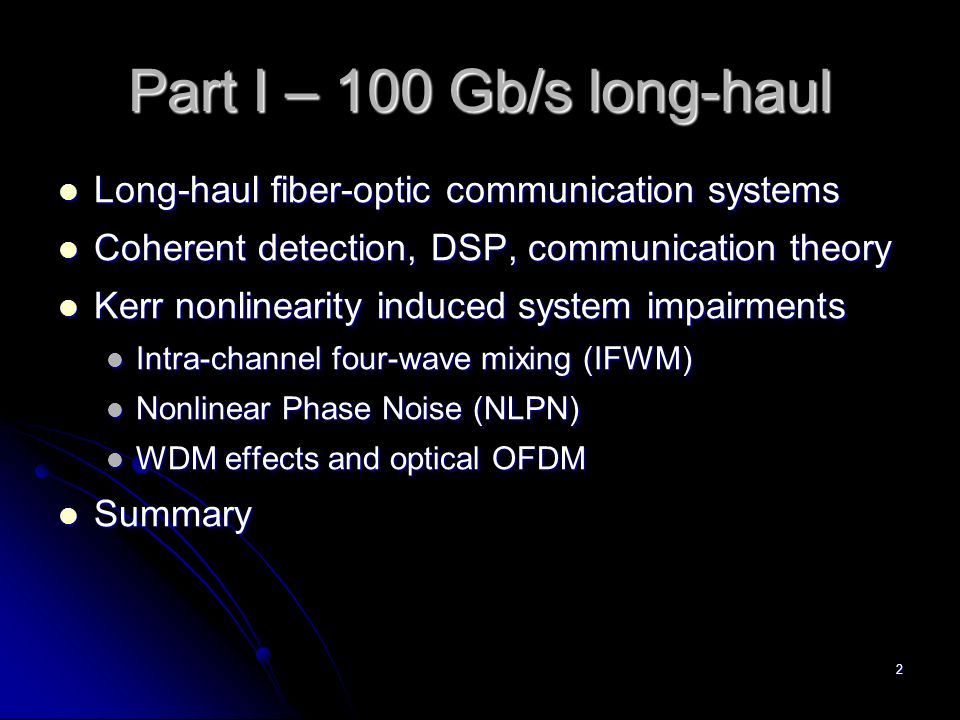 OFDM and Multi-Channel Communication Systems