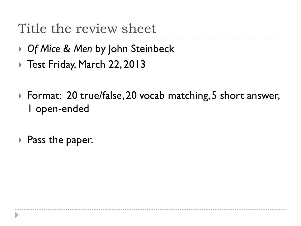 a review of of mice and men by john steinbeck Of mice and men is a well-known classic, and with valid reason the book may  seem rather boring (as many books about the great depression.