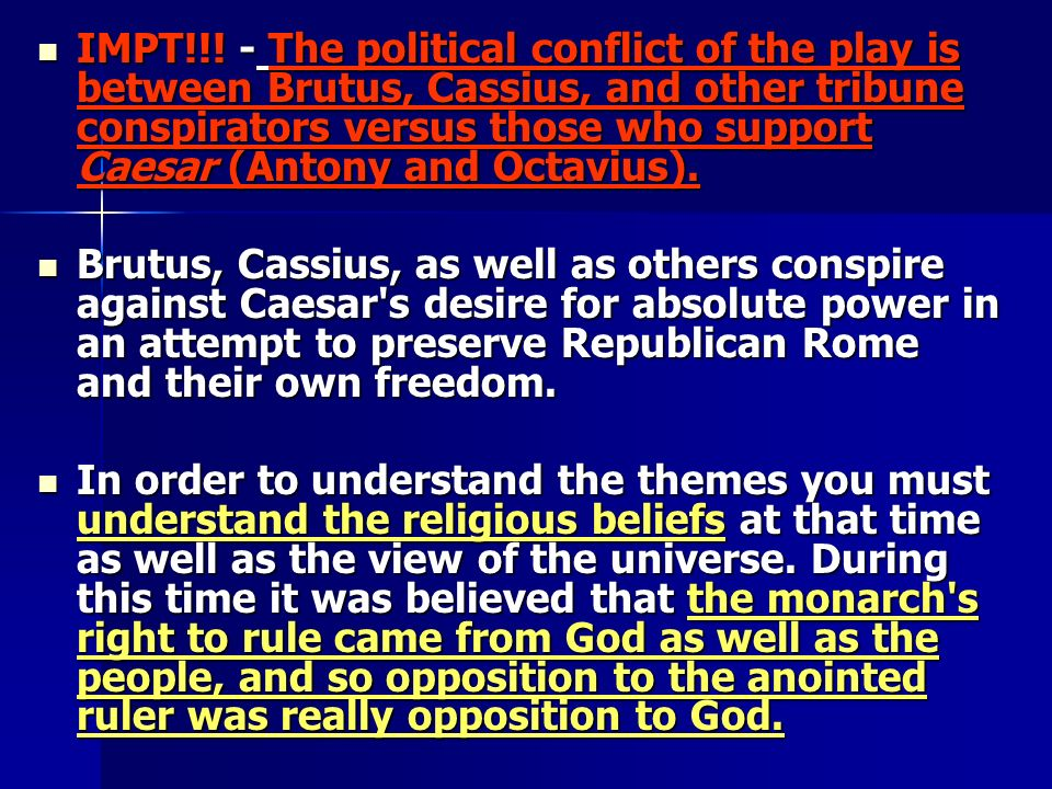 brutus conflict between honor and responicibility In julius caesar brutus has internal struggles about his feelings for caesar  part of the problem within brutus is the fact that he can be influenced, a fact that.