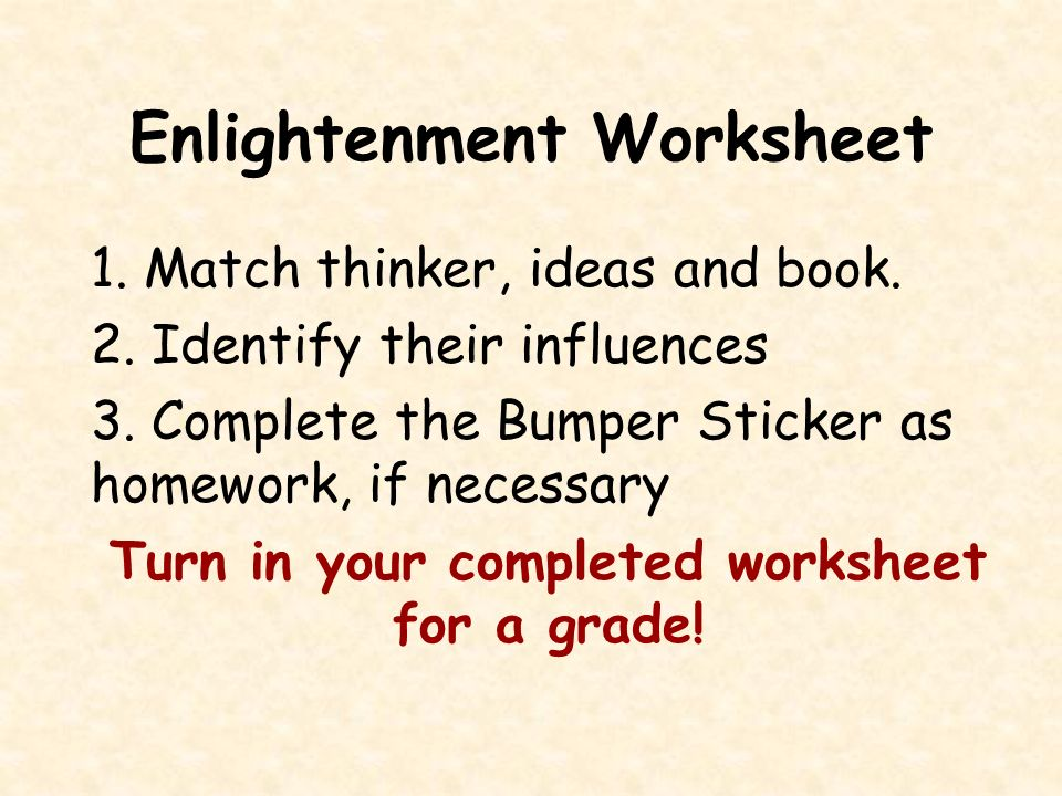 Bell Ringer 1129 1130 The Scientific Revolution was a new – Enlightenment Worksheet
