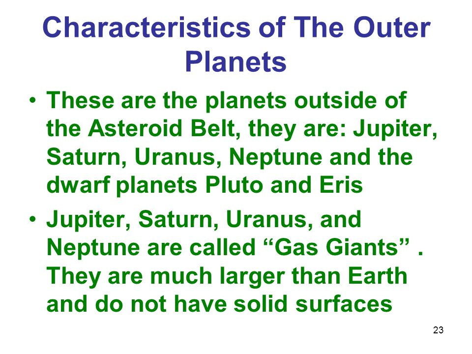 outer planets and their characteristic - photo #32