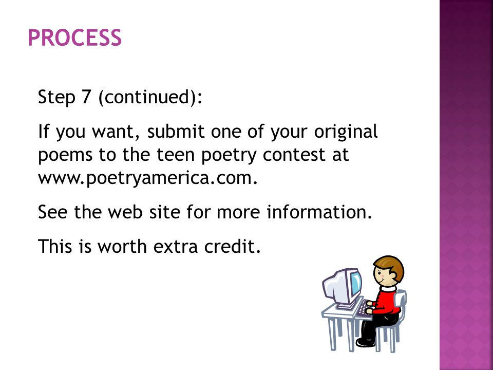 Submit teen poetry