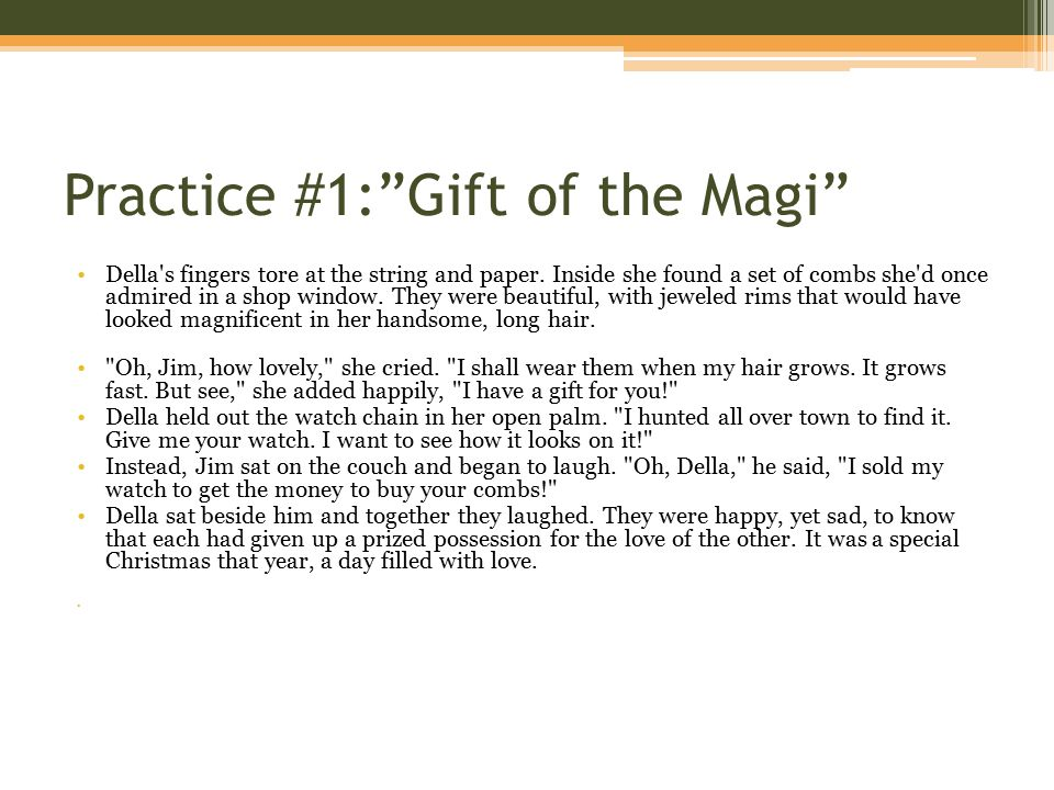 Gift Of The Magi Essay