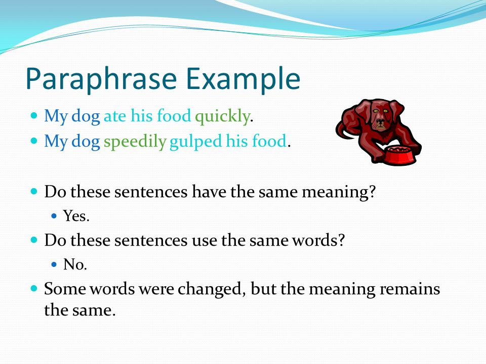 Paraphrase words and sentences easy