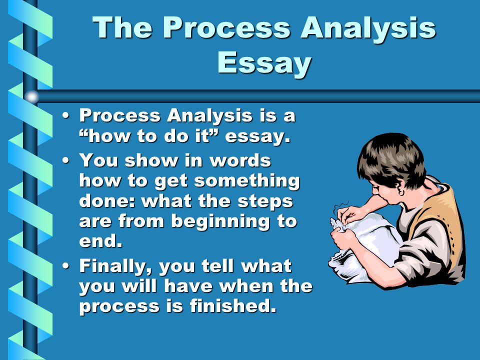 Process analysis essay vocabulary