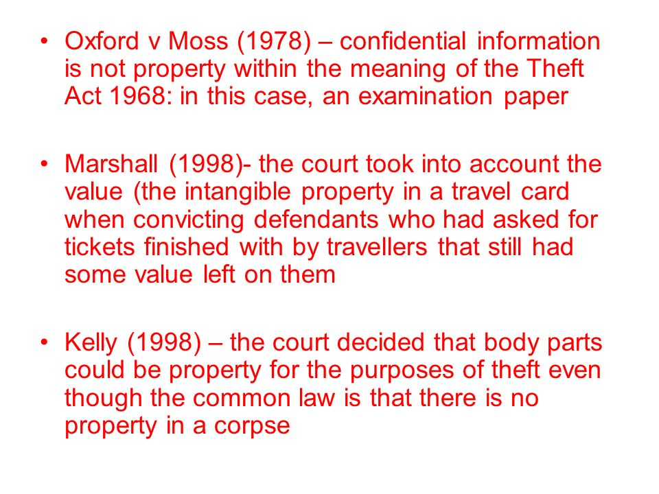 an overview of the theft act of 1968 There are many aspects involving false accounting – but under section 17 of the  theft act 1968, false accounting is defined as an offence where an individual.