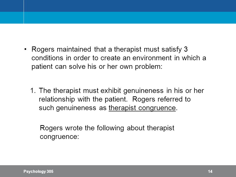 congruence in the therapeutic relationship
