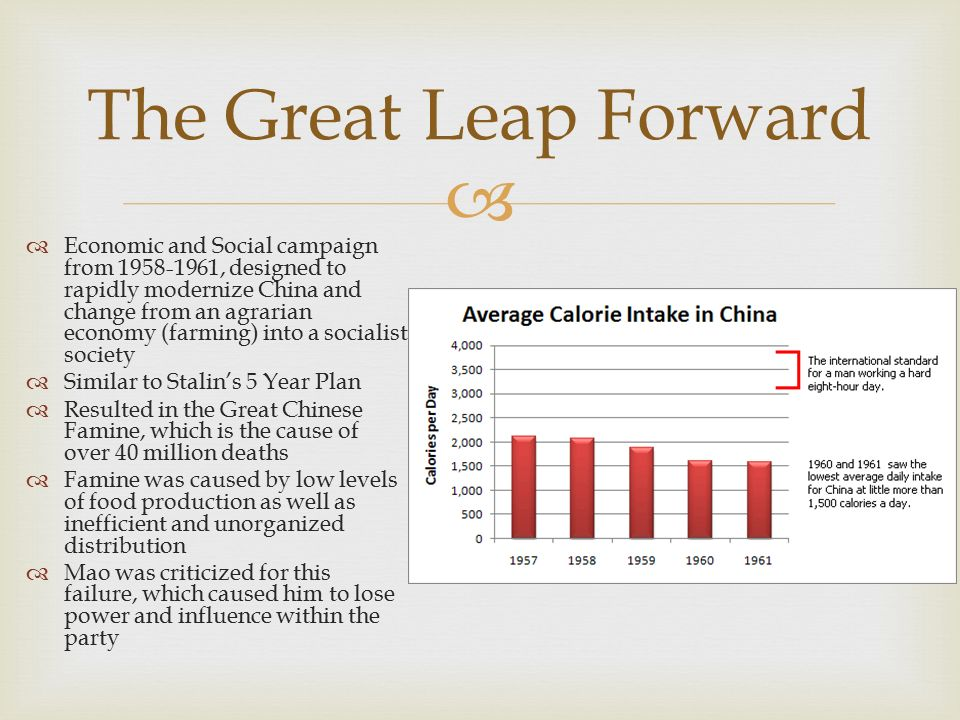 china s great leap forward campaign impact Originally answered: how did the great leap forward impact china 40 million dead 47 views view upvoters related questions what were the goals of the great leap forward how did the great leap forward advantage china in the cold war.