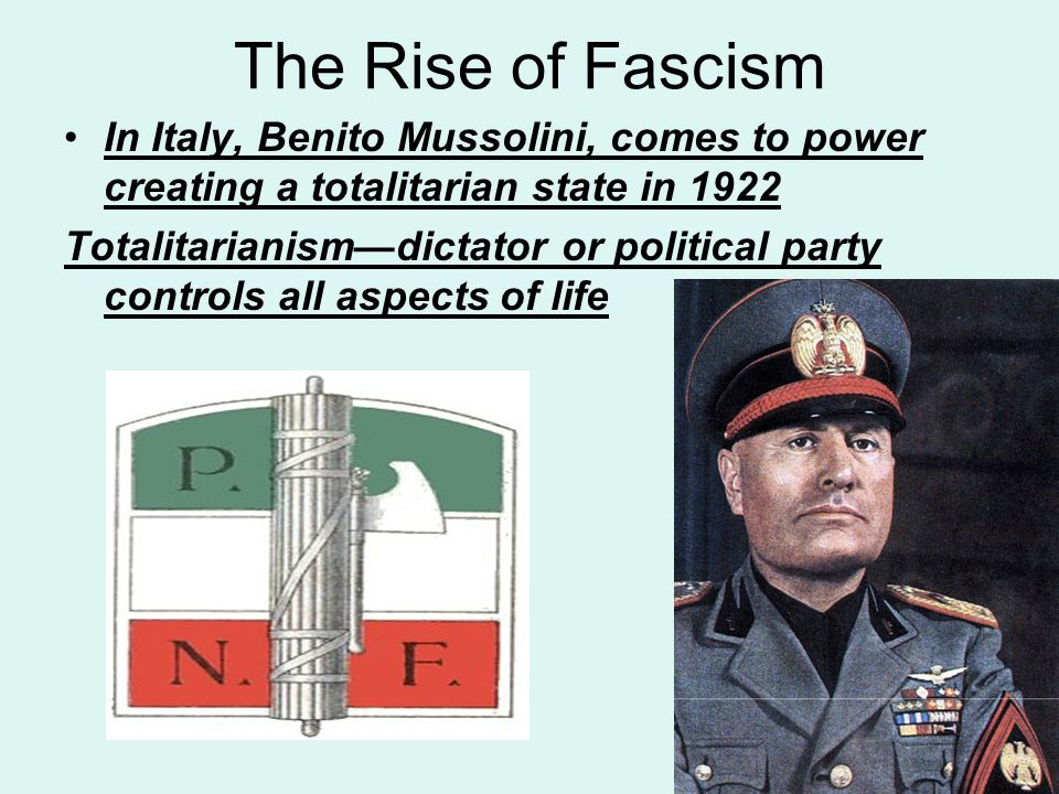 the life and political works of bentio mussolini the fascist dictator of italy Benito mussolini was born and raised in dovia di predappio, italy  about-face,  becoming an advocate of rule by one charismatic dictator, calling it 'fascism.