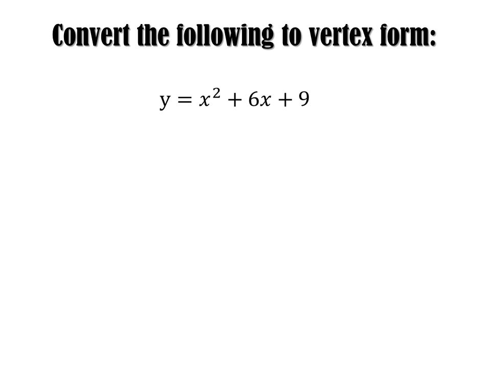 how to find the vertex in standard form