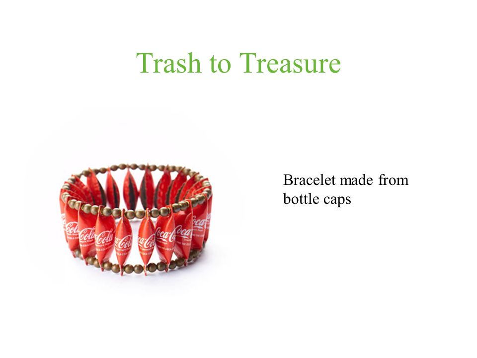 Trash to Treasure Bracelet made from bottle caps