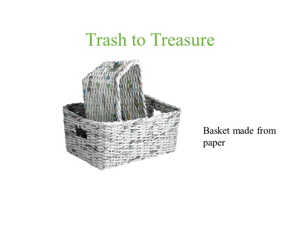 Trash to Treasure Basket made from paper