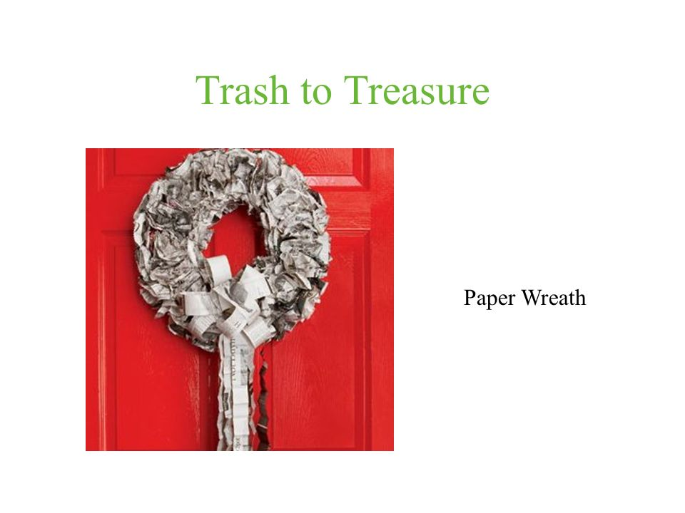 Trash to Treasure Paper Wreath