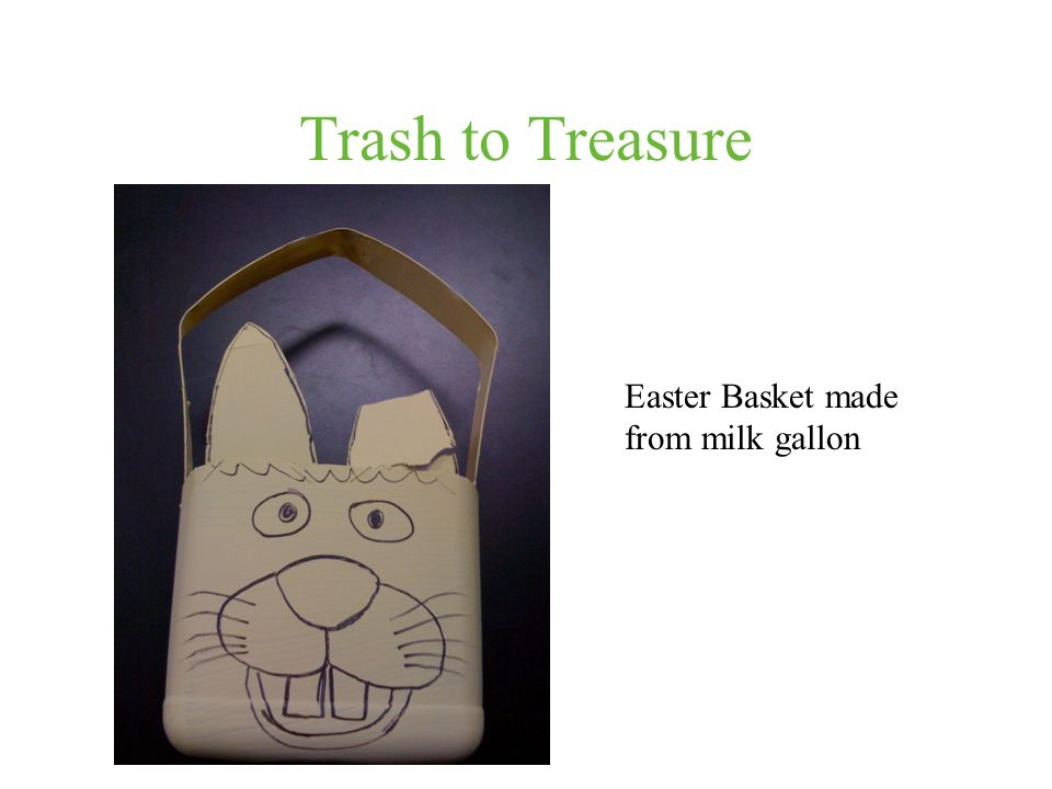 Trash to Treasure Easter Basket made from milk gallon