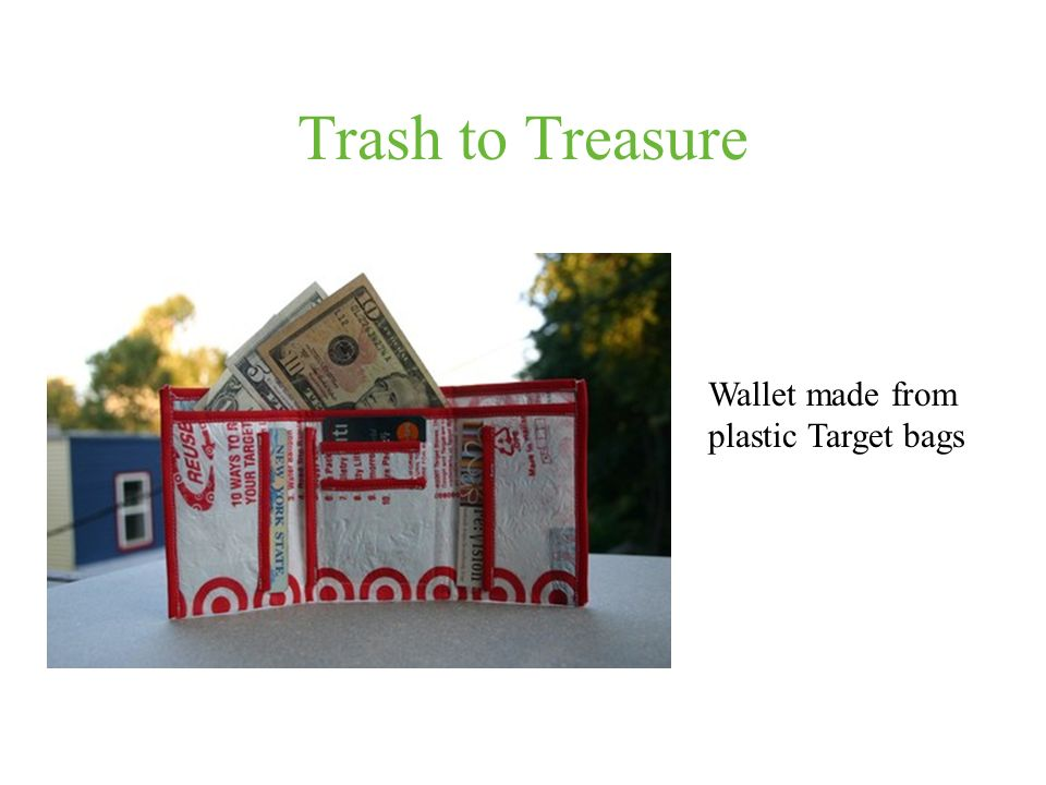 Trash to Treasure Wallet made from plastic Target bags