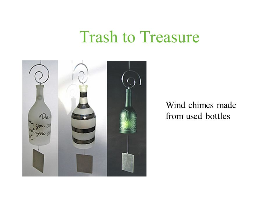 Trash to Treasure Wind chimes made from used bottles