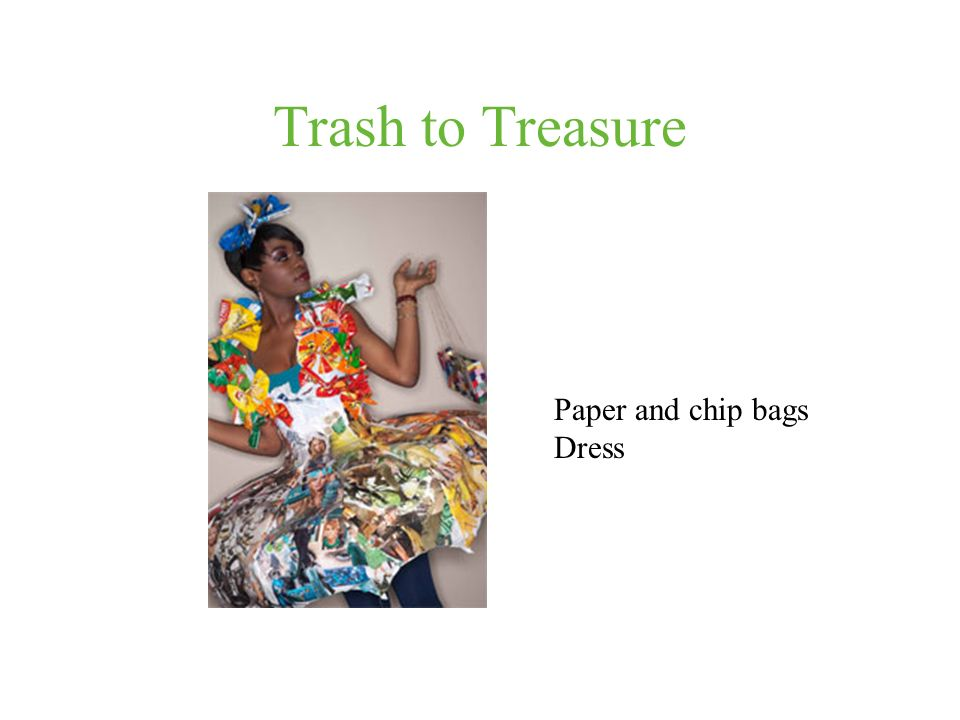 Trash to Treasure Paper and chip bags Dress