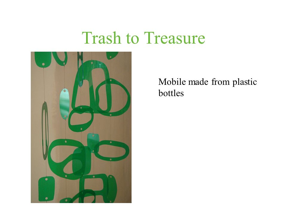 Trash to Treasure Mobile made from plastic bottles