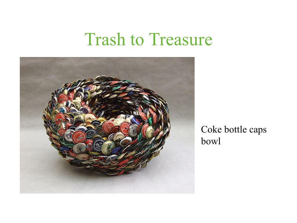 Trash to Treasure Coke bottle caps bowl
