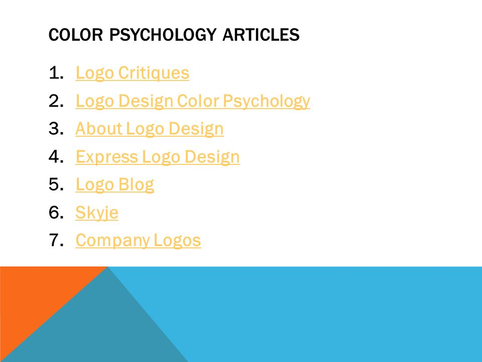 color psychology essay