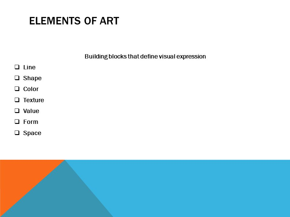 Elements Of Art Space Definition : The art of graphic design ppt download