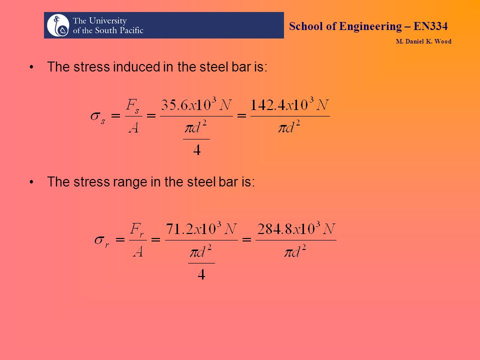 The stress induced in the steel bar is: