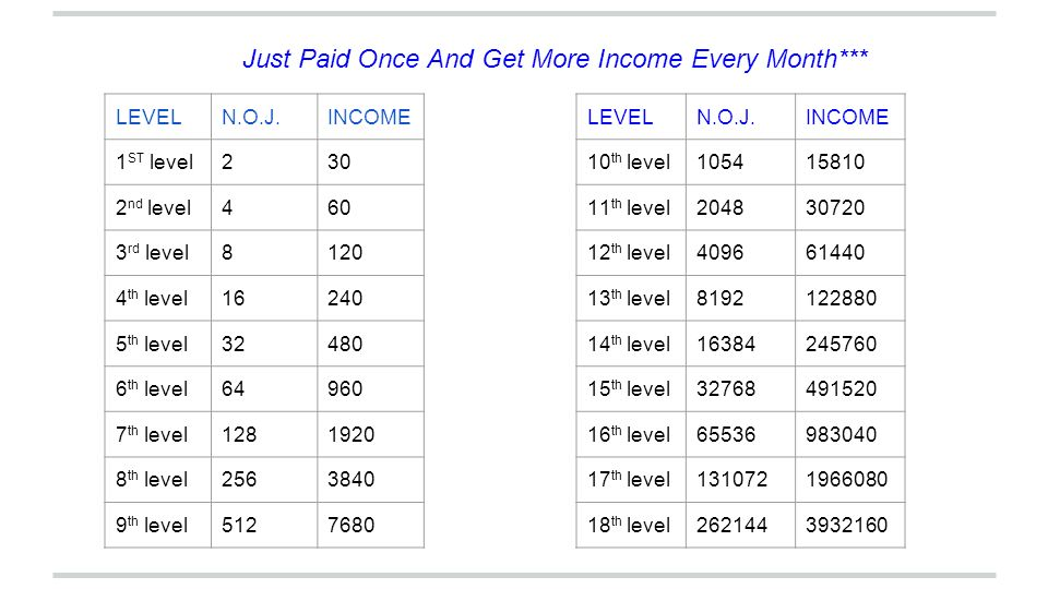 Just Paid Once And Get More Income Every Month***