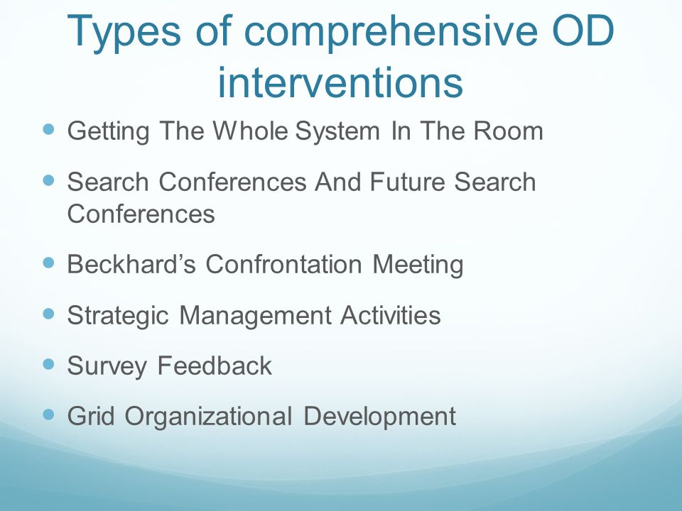 ppt on od intervention of any company