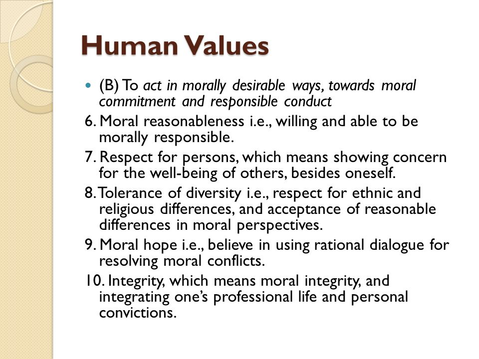 Professional Values in Business