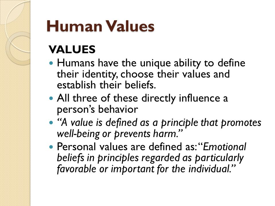 how an important role in life defines characterm values and beliefs Social values are cultural standards that indicate the general good deemed desirable for organised social life these are assumptions o what is right and important for society they provide the ultimate meaning and legitimacy for social arrangements and social behaviour.
