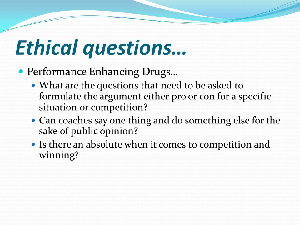 an analysis of the issue of performance enhancing drugs in sports Performance enhancing and prescription drugs were a growing issue in  professional  analyze what current drugs have been used and who were the  athletes.