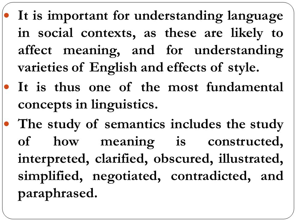 understanding the important elements of the english language Students who are native speakers of english already know english grammar   of formal grammar instruction to writing is not applicable to larger elements of   as understand the importance of grammar as a tool for effective communication.