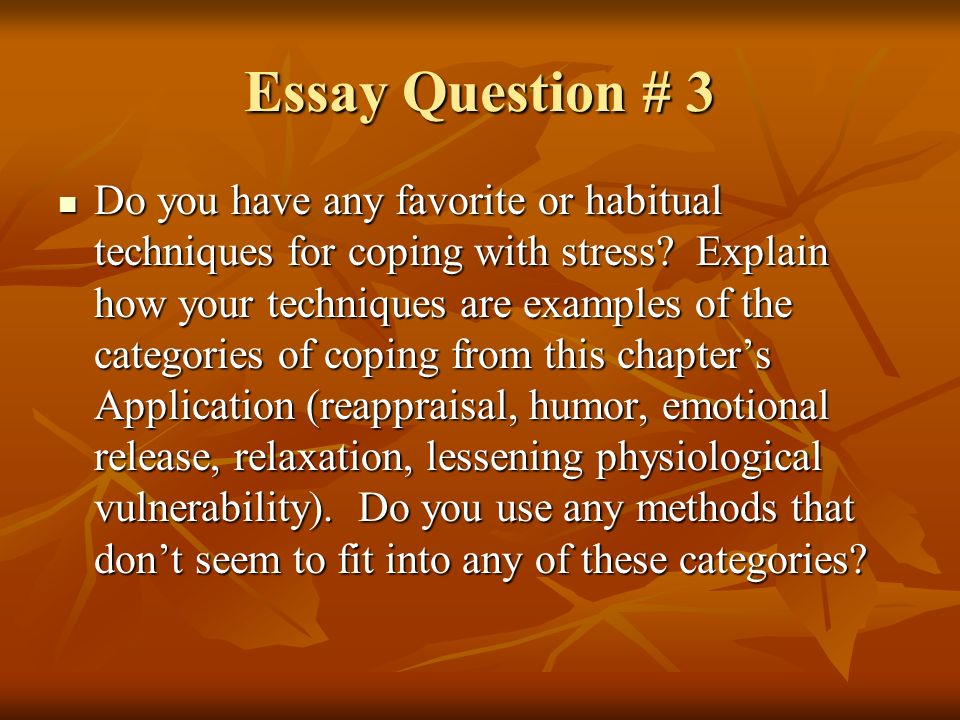 essay about cause of stress in Stress is the root of, if not all, most evil in the modern world and as such, needs to be treated with the respect it deserves getting to grips with stress involves understanding the underlying causes and developing coping mechanisms.
