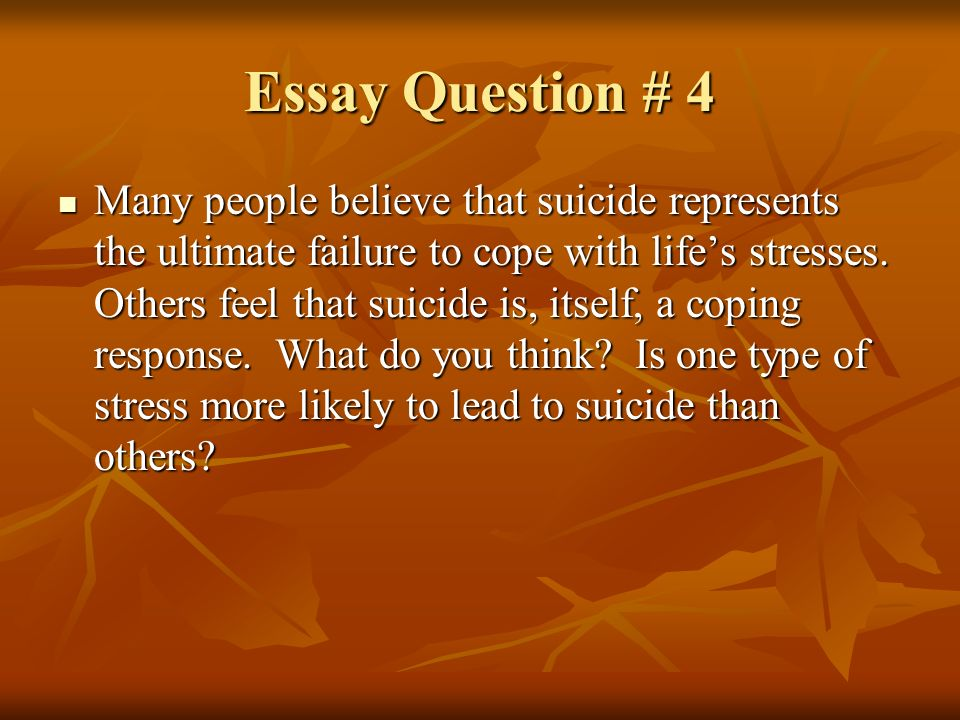 coping with stress in college essay Essay about stress management tips for students leave a reply the period of time connected with studying at college or university is often viewed as the happiest period in one's life.