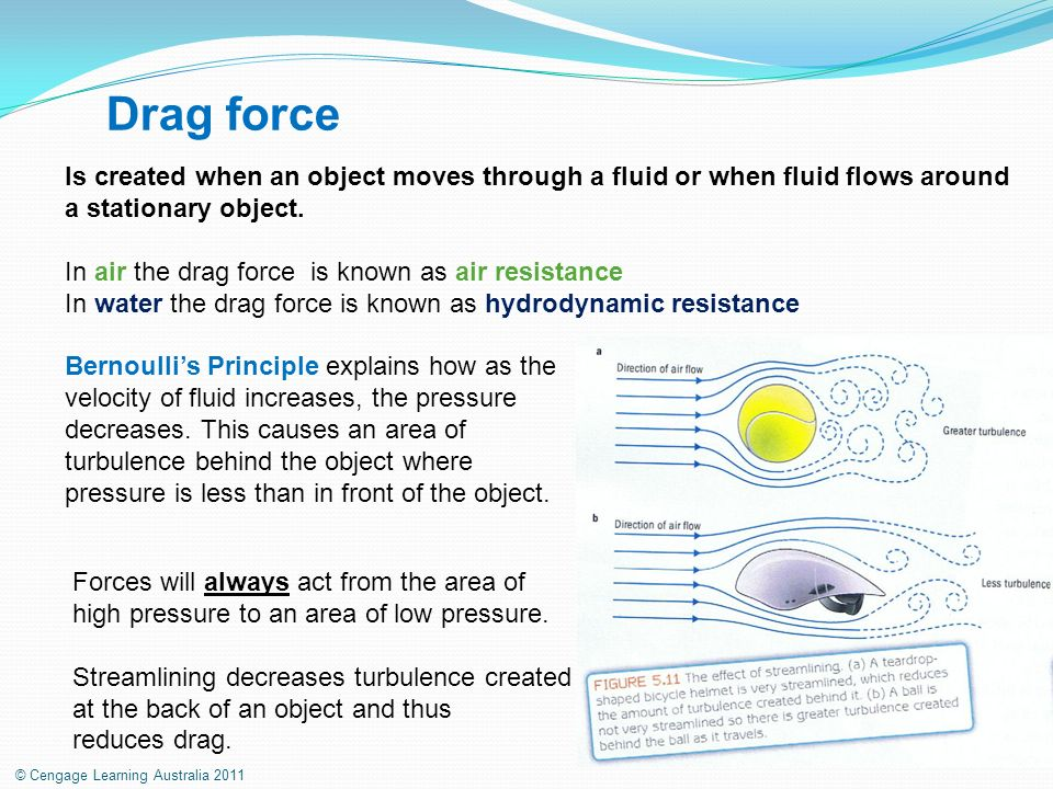 how to find area of air resistance of a object