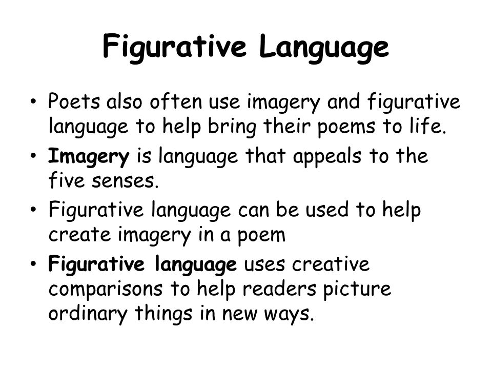 using figurative language in essays Always give your essay a helpfully descriptive title (not in quotation marks), and  always number the pages 2  when using figurative language, be consistent.