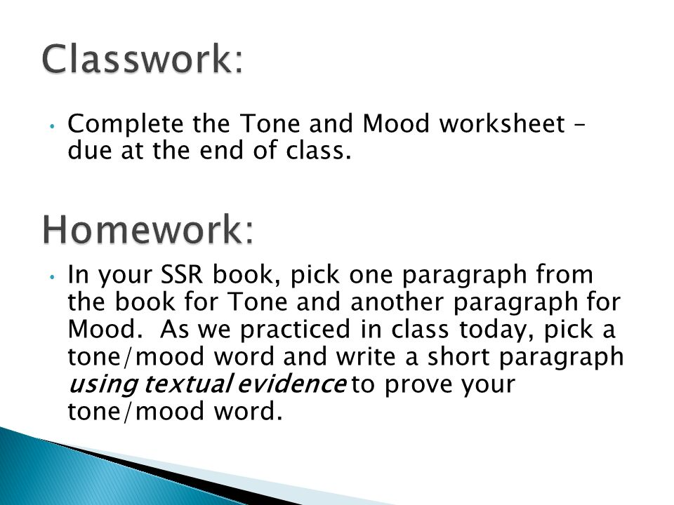 Tone and Mood ppt download – Mood and Tone Worksheets