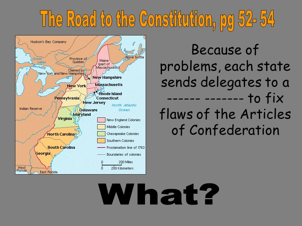 Flaws in the articles of confederation