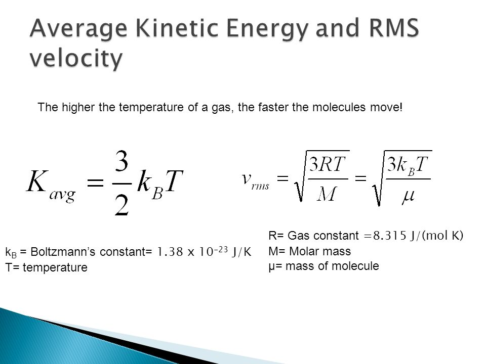 Translational Kinetic Energy Formula The Laws of Thermodyna...