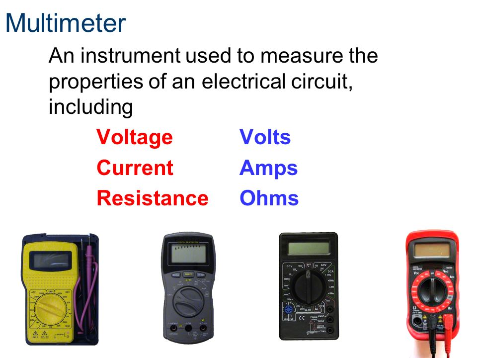 Instrument Current Electricity : Introduction to electricity ppt video online download