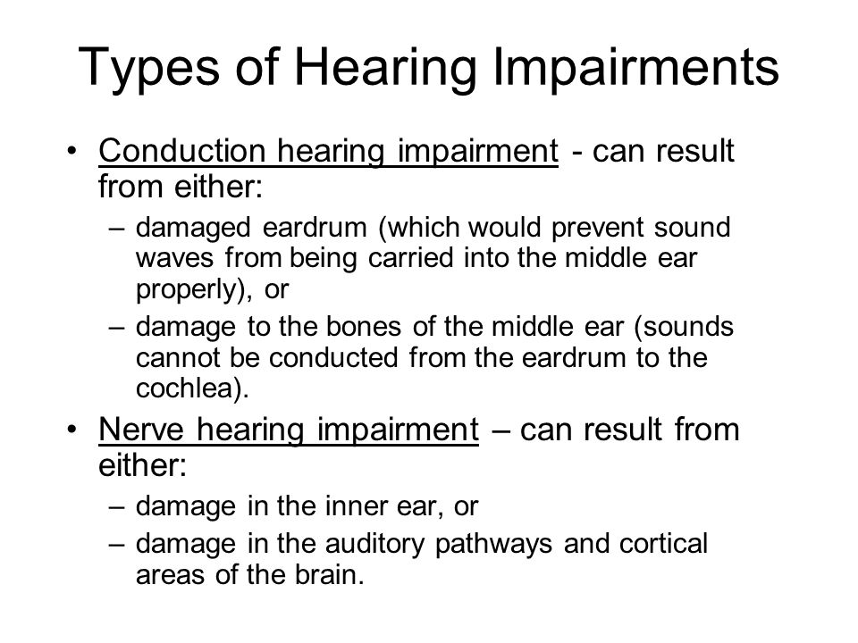 types of hearing impairment pdf