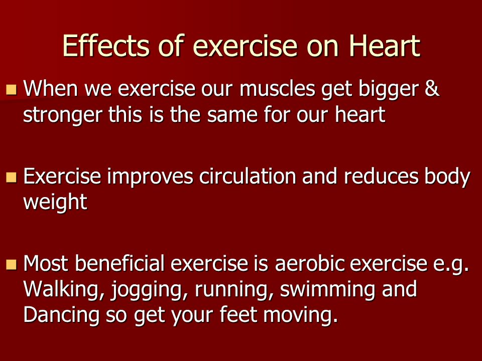 effect of exercise on cardia output essay Beneficial effects of endurance training on cardiac and skeletal muscle energy metabolism in heart dimension and increased cardiac output at peak exercise.