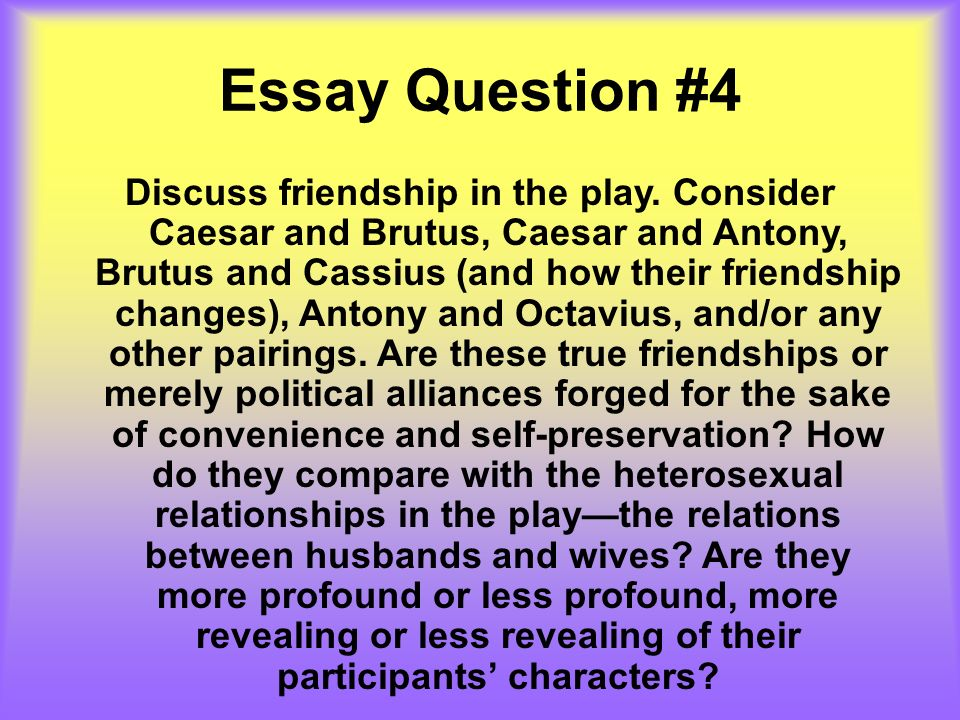 julius caesar act i essay questions