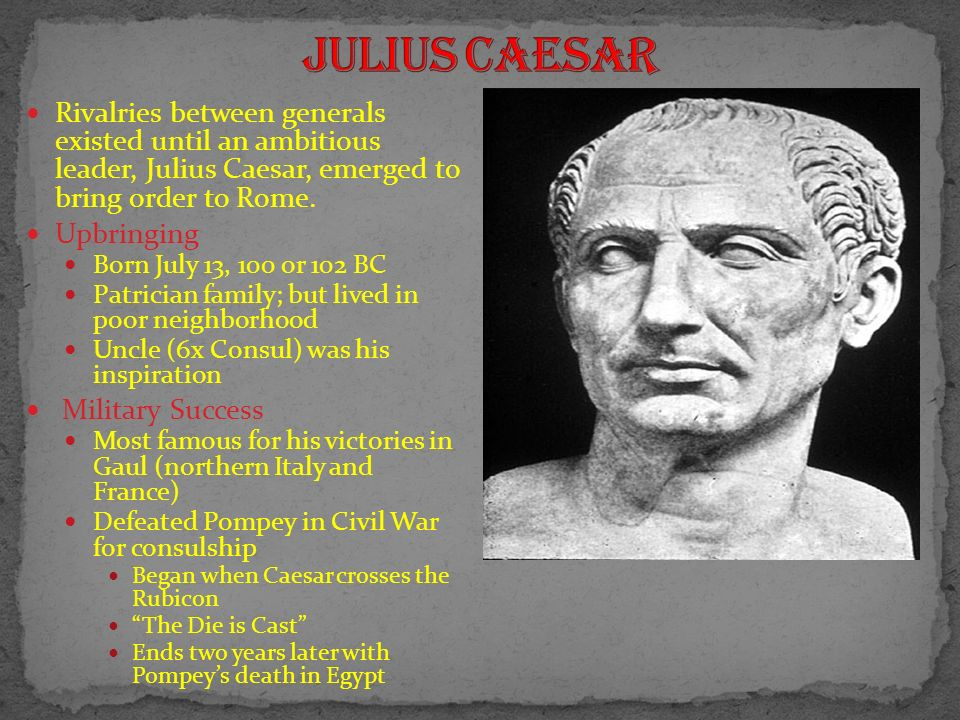 The ides of March: Julius Caesar is murdered